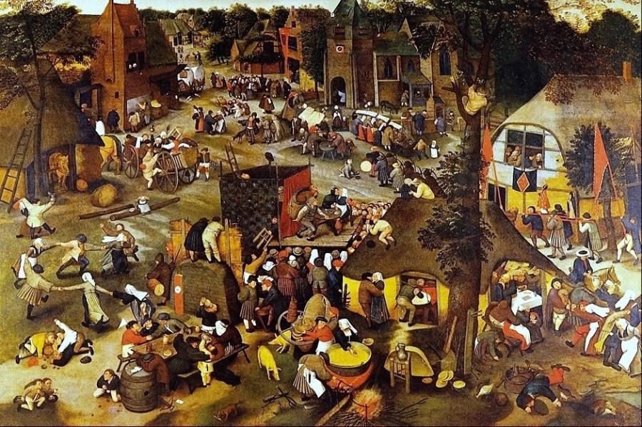 1500s-Brueghel-Pieter-the-younger-Flemish-artist-c.1564-1637-8-Village-Fair-Festival