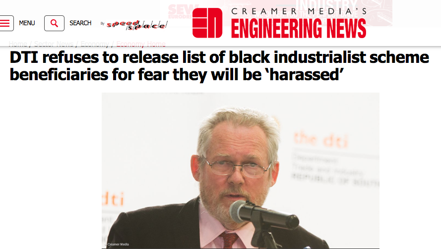 Rob Davies on black industrialists
