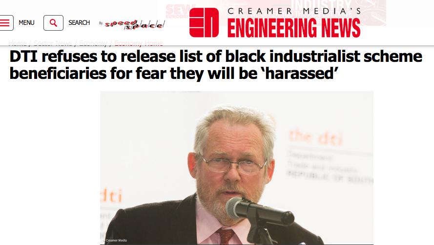 Rob Davies on black industrialists