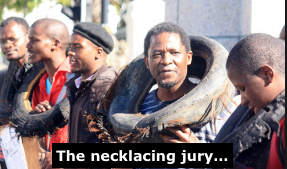 Necklacing jury...
